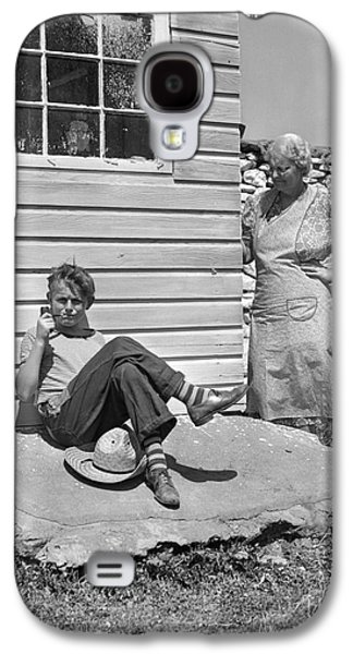 Boy Caught Smoking Pipe, C.1940s Galaxy S4 Case