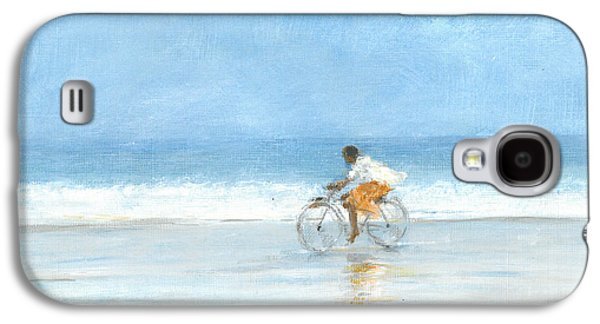 Boy On A Bike  One Galaxy S4 Case by Lincoln Seligman
