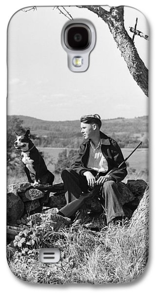 Boy Out Hunting With Dog, C.1930s Galaxy S4 Case