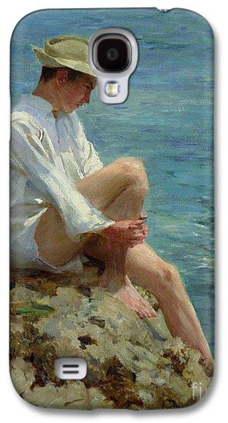 Boys Bathing Galaxy S4 Case by Henry Scott Tuke