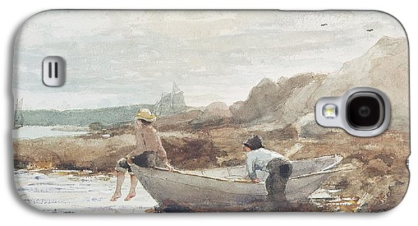 Boys On The Beach Galaxy S4 Case by Winslow Homer