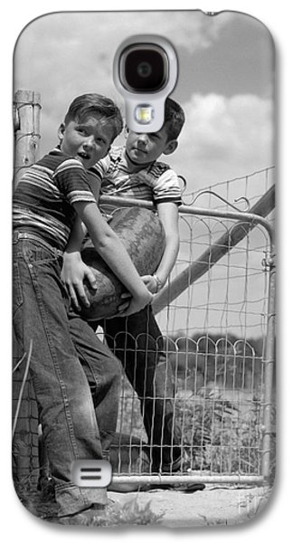 Boys Stealing A Watermelon, C.1950s Galaxy S4 Case by H. Armstrong Roberts/ClassicStock