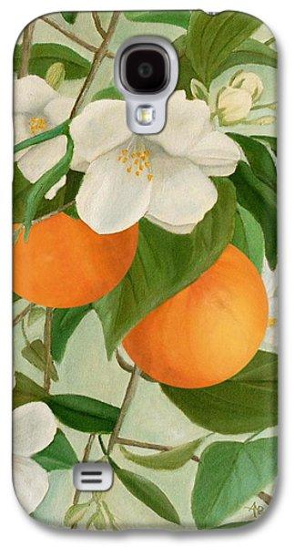Branch Of Orange Tree In Bloom Galaxy S4 Case