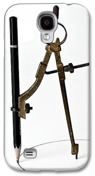 Brass Compass And Pencil Galaxy S4 Case by Bob Orsillo