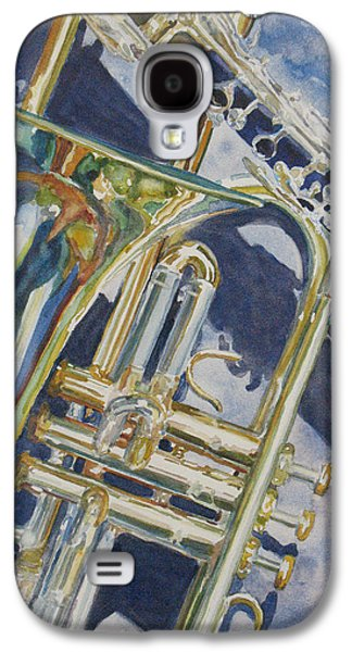Trombone Galaxy S4 Case - Brass Winds And Shadow by Jenny Armitage