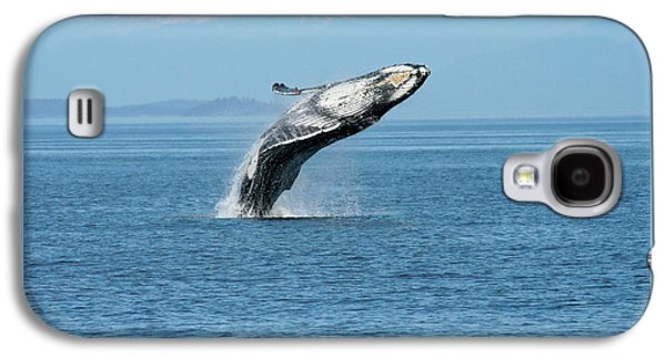 Breaching Humpback Whales Happy-3 Galaxy S4 Case