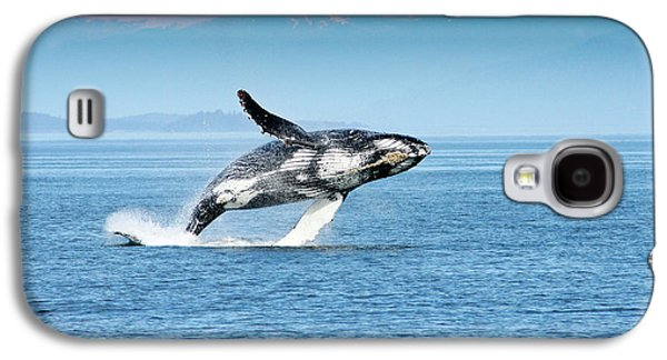 Breaching Humpback Whales Happy-4 Galaxy S4 Case