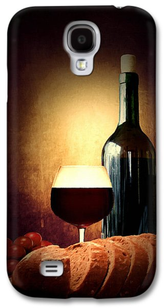 Grape Leaf Galaxy S4 Cases - Bread and wine Galaxy S4 Case by Lourry Legarde