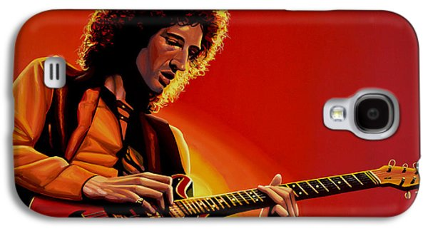 Brian May Of Queen Painting Galaxy S4 Case by Paul Meijering