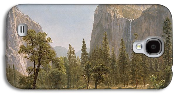 Bridal Veil Falls Yosemite Valley California Galaxy S4 Case by Albert Bierstadt