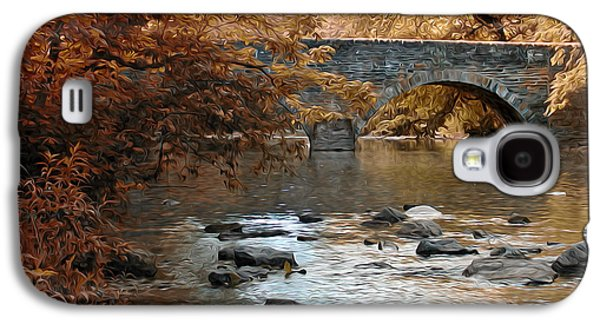 Phillies Digital Galaxy S4 Cases - Bridge Over the Wissahickon at Valley Green Galaxy S4 Case by Bill Cannon