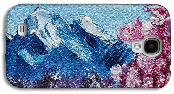 Bright Blue Mountains Galaxy S4 Case