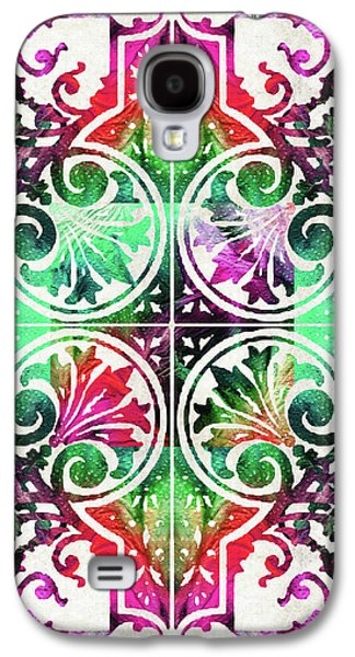 Bright Colorful Pattern Art - Color Fusion Design 10 By Sharon Cummings Galaxy S4 Case by Sharon Cummings