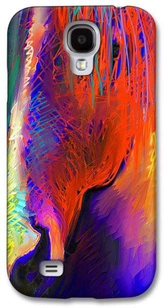 Svetlana Novikova Digital Galaxy S4 Cases - Bright Mustang horse Galaxy S4 Case by Svetlana Novikova