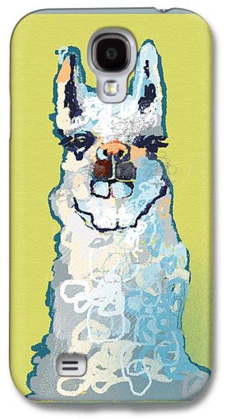Bright Mustard Llama Galaxy S4 Case