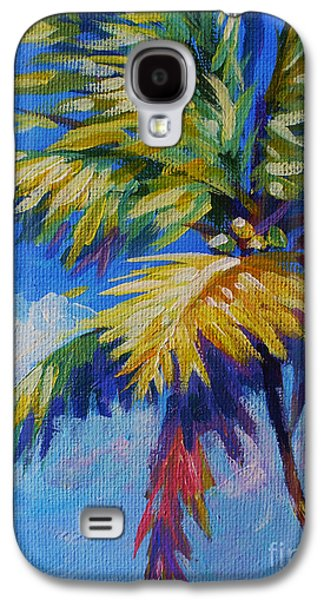 Gallery Paintings Galaxy S4 Cases - Bright Palm Galaxy S4 Case by John Clark