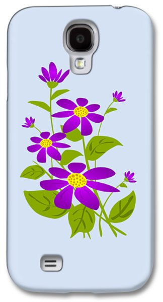 Bright Purple Galaxy S4 Case by Anastasiya Malakhova