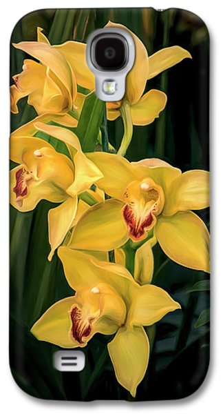 Orchid Galaxy S4 Case - Bright Yellow Orchids by Tom Mc Nemar