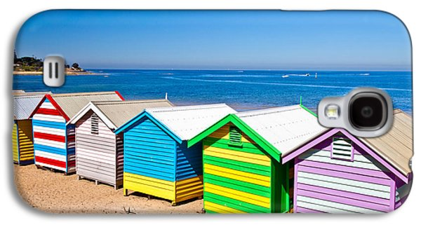 Brighton Beach Huts Galaxy S4 Case by Az Jackson