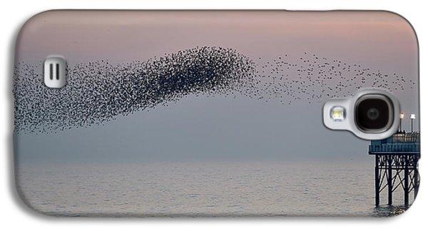 Brighton Starling Murmuration Galaxy S4 Case by Simon Dack