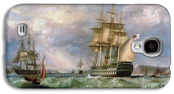 British Men-o'-war Sailing Into Cork Harbour  Galaxy S4 Case
