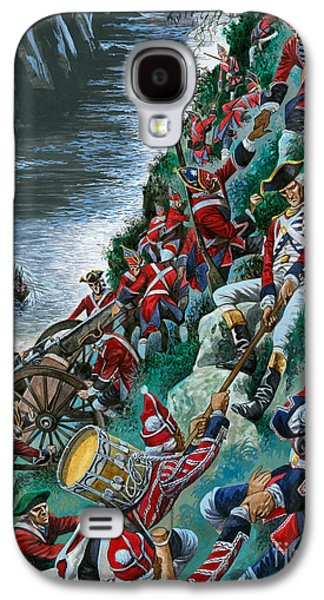 British Soldiers Make The Arduous Ascent Of The Heights Of Abraham To Take Quebec Galaxy S4 Case by Peter Jackson