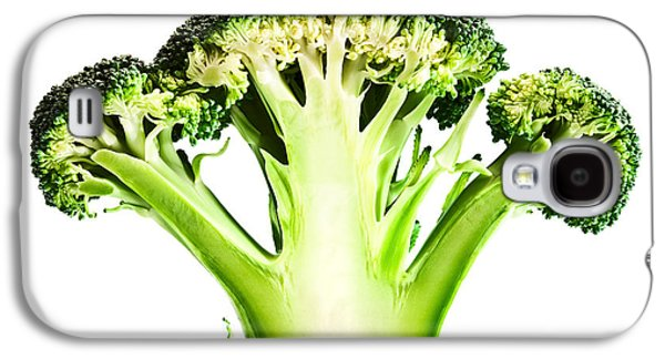 Broccoli Galaxy S4 Case - Broccoli Cutaway On White by Johan Swanepoel