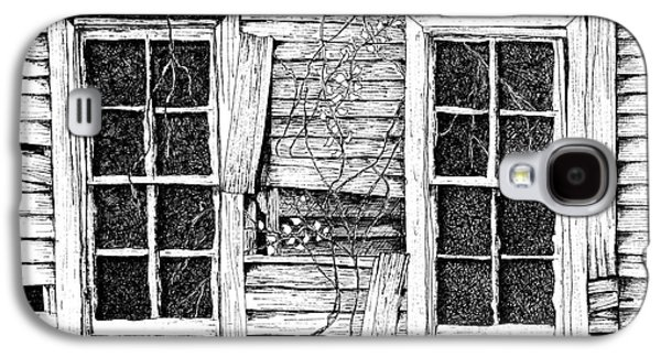Broken Windows And Vines Galaxy S4 Case by Dawn Boyer