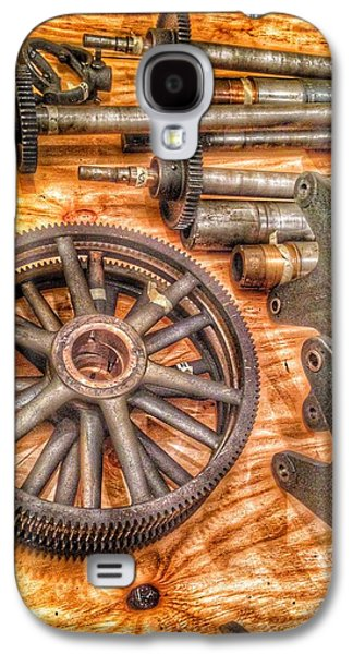Bromo Seltzer Tower's 1911 Seth Thomas Clock Mechanism Abstract #2 Galaxy S4 Case by Marianna Mills
