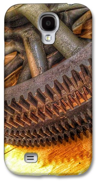 Bromo Seltzer Tower's 1911 Seth Thomas Clock Mechanism Abstract #3 Galaxy S4 Case by Marianna Mills