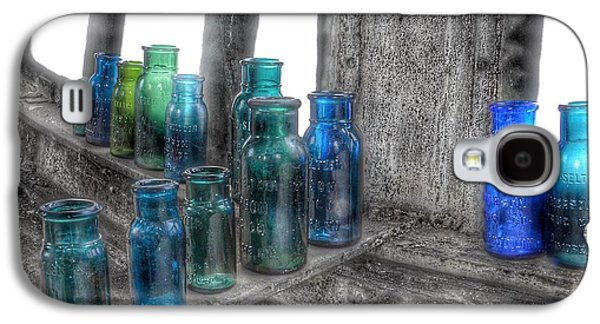 Bromo Seltzer Vintage Glass Bottles Galaxy S4 Case by Marianna Mills