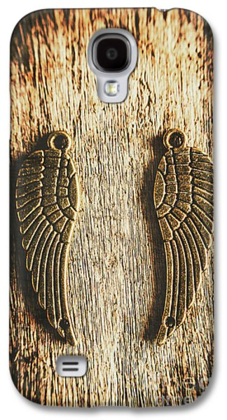 Bronze Angel Wings Galaxy S4 Case by Jorgo Photography - Wall Art Gallery