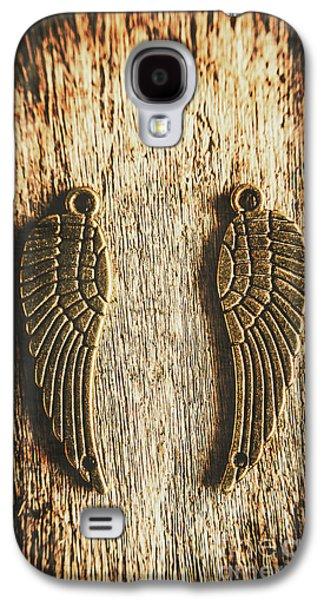 Bronze Angel Wings Galaxy S4 Case