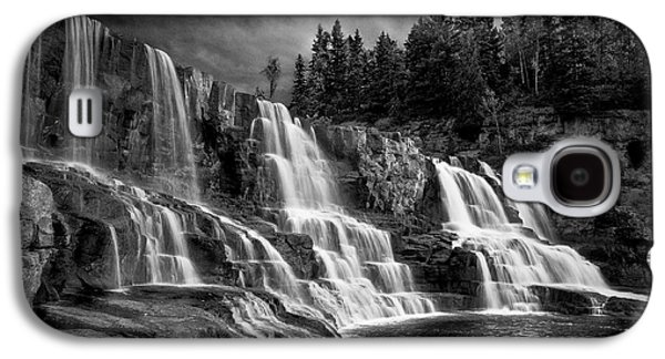 Galaxy S4 Case featuring the photograph Brooding Gooseberry Falls by Rikk Flohr