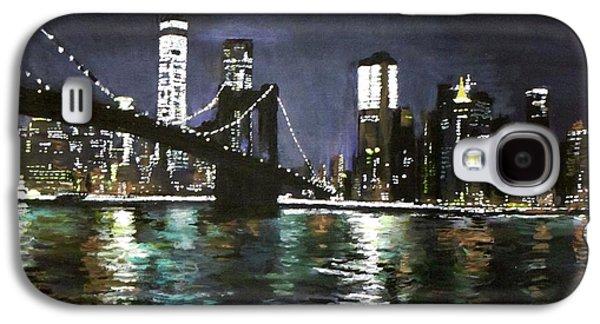 Brooklyn Bridge, East River At Night Galaxy S4 Case