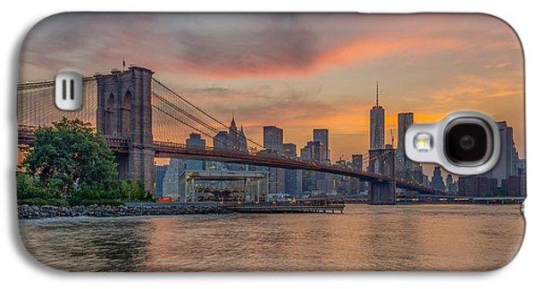 Brooklyn Bridge Summer Sunset Galaxy S4 Case by Scott McGuire