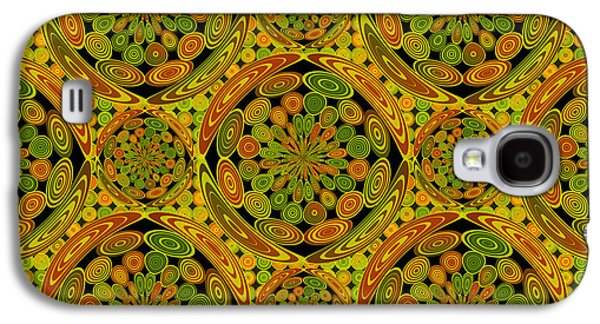 Brown And Green Circles Galaxy S4 Case by Gaspar Avila