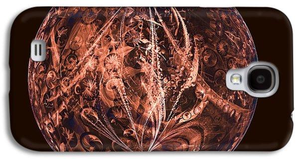 Brown Artificial Planet Galaxy S4 Case