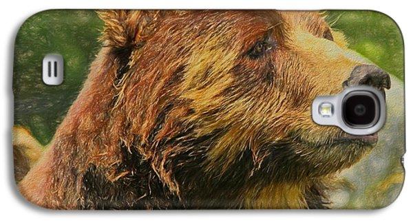 Brown Bear Portrait Galaxy S4 Case by Dan Sproul