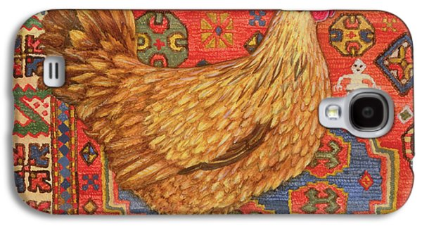 Brown Carpet Chicken Galaxy S4 Case by Ditz