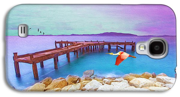 Spoonbill Galaxy S4 Case - Brown Dock by Laura D Young