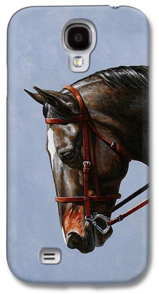 Brown Dressage Horse Phone Case Galaxy S4 Case