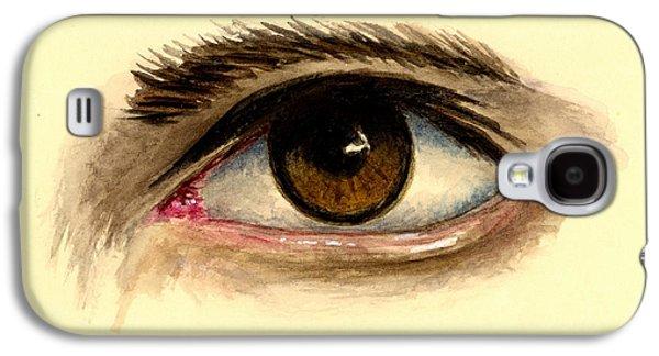 Brown Eye Galaxy S4 Case by Michael Vigliotti