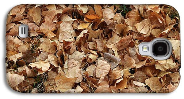 Brown Leaf Carpet Galaxy S4 Case