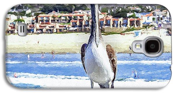Waterscape Galaxy S4 Case - Nautical Bird Brown Pelican Portrait by Mona Stut
