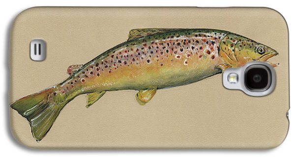 Brown Trout Jumping Galaxy S4 Case