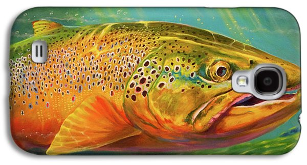Brown Trout Portrait  Galaxy S4 Case