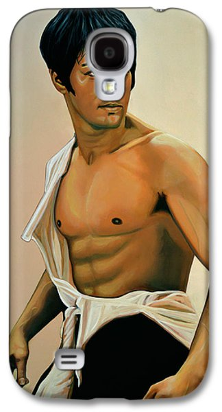 Bruce Lee Painting Galaxy S4 Case by Paul Meijering