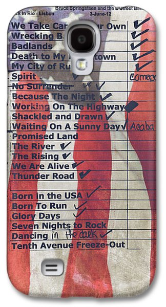 Bruce Springsteen Setlist At Rock In Rio Lisboa 2012 Galaxy S4 Case by Marco Oliveira