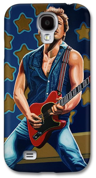 Bruce Springsteen The Boss Painting Galaxy S4 Case by Paul Meijering